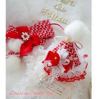 dress up Santa Red お帽子とマフラー