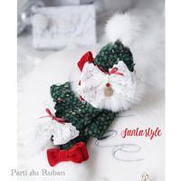 Santa style  お帽子とマフラー