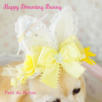 Happy Dreaming Bunny yellow