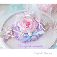Heart pastelrosette purple