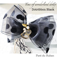 Time of wonderland dolly Dot ribbon Black