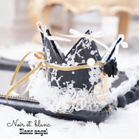 Noir et blanc♡Blanc  angel crown