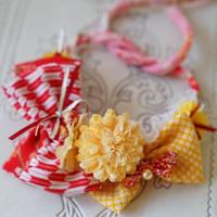 《Wa.ruban》彩 橙 カチューシャ&フリフリチョーカー