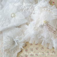 White lace collage ガーランド&クッション