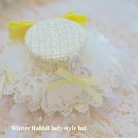 Winter Rabbit lady style hat
