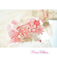 Wa.ruban Hana Ribbon 飾り付きアクセサリー 1点