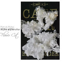Neko neko 2021 FlowerCat ネコ耳&猫ちゃんケープ&おリボン ホワイト 3点セット