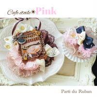 Cafe étoile Pink チョーカー&ヘアクリップ