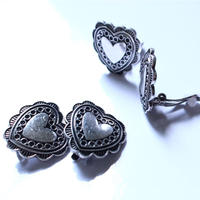 oldcolor Heart earring