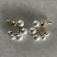 【B】pearl hoop pierce