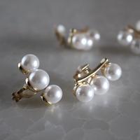 3pearl clip earring