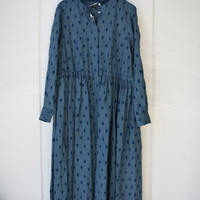 R&D.M.CO-  artichoke flocking finish front open dress