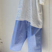 先染め check gom pants