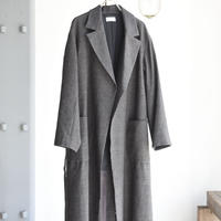 phlannel    Arles wool linen long belted coat