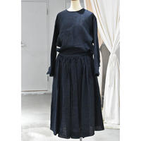 R&D.M.CO-  chambray gather skirt