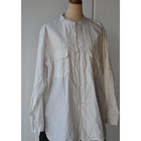 TOUJOURS       BAND COLLAR MILITARY SHIRT