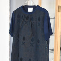 antipast embroidery cotton knit poll over