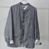 CHAMBRAY STAND COLLAR JK