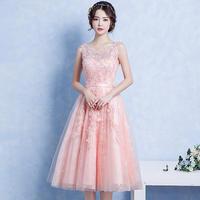 パーティードレス 結婚式 二次会 ワンピース 結婚式ドレス お呼ばれワンピース 20代 30代 40代 ミモレ丈 ピンク レース 花柄 刺繍