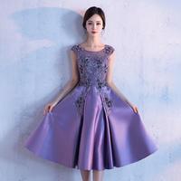 パーティードレス 結婚式 二次会 ワンピース 結婚式ドレス お呼ばれワンピース 20代 30代 40代 ミモレ丈 ひざ下丈 紫 赤 花柄 刺繍