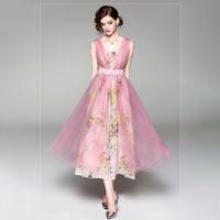 パーティードレス 結婚式 二次会 ワンピース 結婚式ドレス お呼ばれワンピース 20代 30代 40代 ミモレ丈 白 ピンク レース 花柄