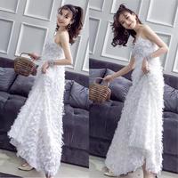 パーティードレス 結婚式 二次会 ワンピース 結婚式ドレス お呼ばれワンピース 20代 30代 40代 ロングドレス 白 レース