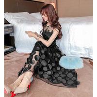 ロングドレス パーティードレス 結婚式 二次会 ワンピース 結婚式ドレス お呼ばれワンピース 20代 30代 40代 黒 シフォン