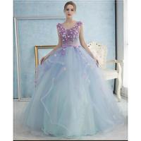 20代 パステルカラーとふんわり広がるシフォンが柔らかで可愛いお姫様ドレス
