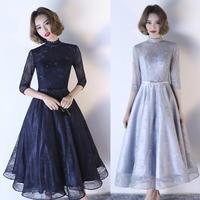 20代 お姫様のように可愛くて上品なミモレ丈ドレス