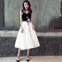 パーティードレス 結婚式 二次会 ワンピース 結婚式ドレス お呼ばれワンピース 20代 30代 40代 ミモレ丈 黒 花柄 刺繍 シフォン