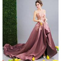 パーティードレス ウェディングドレス 上品ロングドレス 花柄 結婚式 お呼ばれ 二次会 女子会 披露宴 発表会