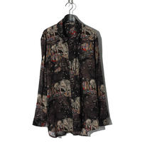 Skull Pattern Shirt / BLACK 2903603