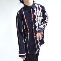 native pattern stripe shirts [T-0066]