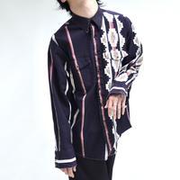 native pattern stripe shirts [T-0066]