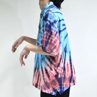 half-sleeve tie-dye polo shirts [T-0051]