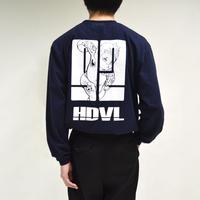 back illustration printed long sleeve shirts[T-0039]