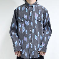 karakusa-pattern button-down shirts [T-0063]