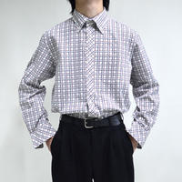 button-down plaid pattern shirts [T-0052]