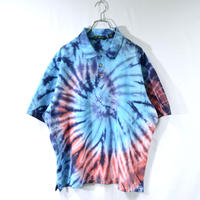 half-sleeve tie-dye polo shirts [T-0051]