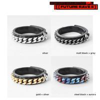 FLAT LINK chain & spike bracelet