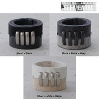 BI COLOR 4 bars leather ring