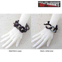 WRAPPED LEATHER big chain bracelet