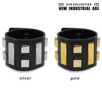 8 SQUARES leather bracelet