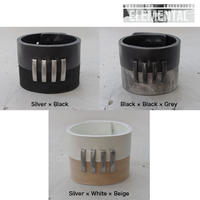 BI COLOR 4bars leather bracelet