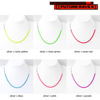 BI COLOR chain short necklace