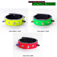 SPIKE leather bracelet(neon)