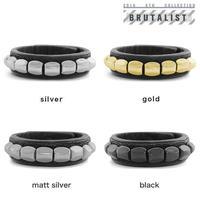 CHEVRON studs leather bracelet