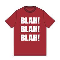 BLAH BLAH BLAH T-shirt (Red)