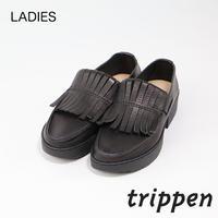 トリッペン レディース タッセルローファーレザーシューズ trippen TIGER-WAW ブラック