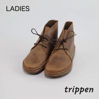 トリッペン レディース クラシックデザートレザーブーツ trippen SLOW-PULL グレーブラウン